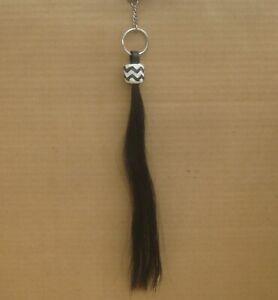 Shoo Fly Black 12 inch Long Horsehair Cinch Tassel