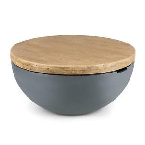 OCCASION] Blumfeldt Blockhouse Lounge table ronde de jardin en béton ...