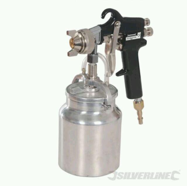 Silverline 196536 750 cc Suction Feed Spray Gun, Garage , Bodyshop , DIY .