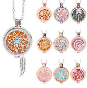 Hot-Memory-Locket-Fragrance-Essential-Oil-Aromatherapy-Diffuser-Necklace-Gift