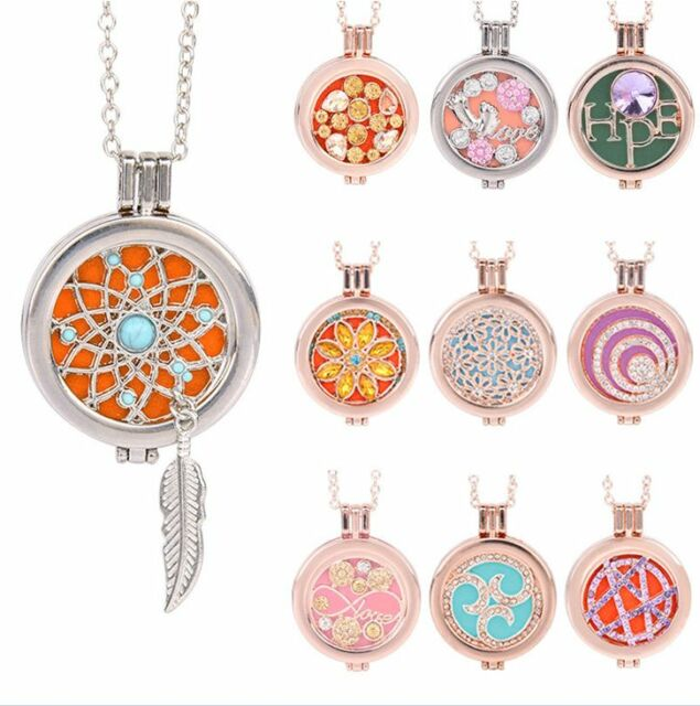 Living Memory Locket Fragrance Essential Oil Aromatherapy Diffuser Necklace Gift