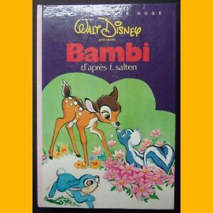 Bibliotheque-Rose-BAMBI-Walt-Disney-1984