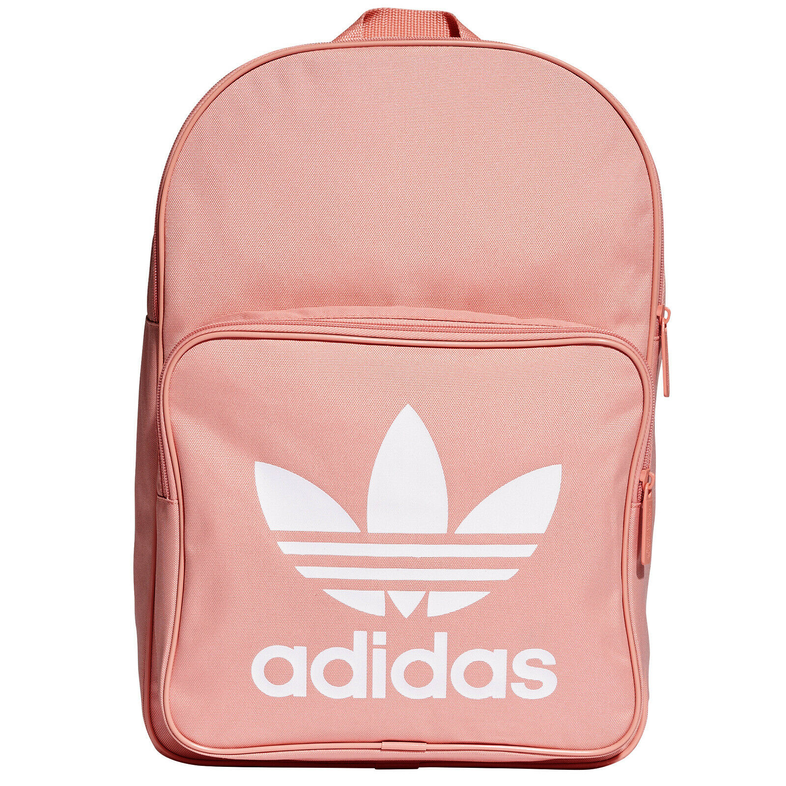adidas Classic Sport Backpack Pink 24L Internal Divider Front Zip Pocket School