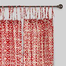 World Market Crinkle Voile Window Panel Tie Top Lot/2 Curtains 27 Varieties!