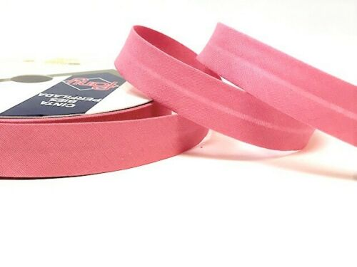 Byetsa Shades of Red /& Pink 18mm Polycotton Bias Binding sold on a 25m roll
