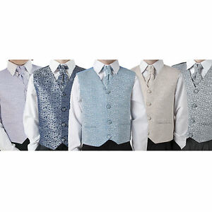 Boys-Suit-Childrens-Kids-Baby-Pageboy-Wedding-Formal-Smart-Choice-of-5-Colours