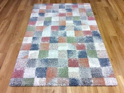 Geometric Pastel MULTI COLOUR Abstract Modern Contemporary Easycare Rugs Runner