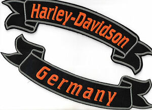 harley davidson germany banner set patch aufn her 2 st ck. Black Bedroom Furniture Sets. Home Design Ideas