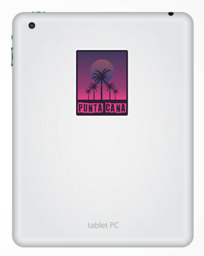 2 X 10cm Punta Cana Sol Pegatina de viaje-pegatinas de vinilo Laptop Equipaje #23885