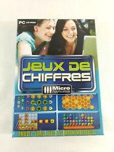 Jeu-PC-VF-Jeux-de-chiffres-Micro-Application-Neuf-et-scelle-Envoi-rapide-suivi