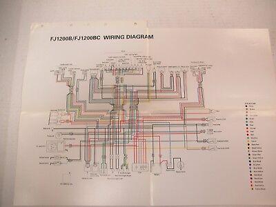 yamaha wiring diagram fj1200b/bc 1991  ebay