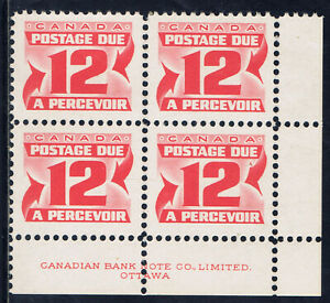 Canada-J36-41-1969-12-cent-POSTAGE-DUE-Lower-Right-Plate-Blk-DF-MNH-CV-6-00