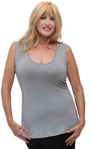 WOMENS CAMI TANK TOP SCOOP NECK STRETCH SPANDEX MADE TO ORDER V528 LotusTraders