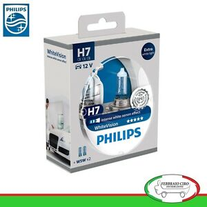 kit 2 lampade philips h7 white vision ultra 2 w5w. Black Bedroom Furniture Sets. Home Design Ideas