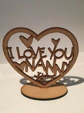 """Wooden 3mm MDF blank plaque /""""Love you lots like jelly tots/"""""""