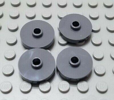 New LEGO Lot of 4 Dark Bluish Gray 2x2 Round Tile Pieces