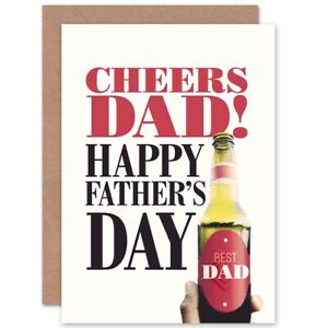 Cheers-Dad-Best-Fathers-Day-Beer-Bottle-Blank-Greeting-Card-With-Envelope