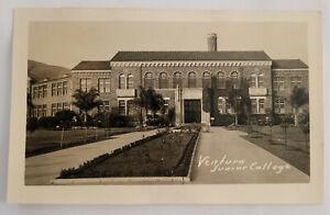 Rare Ventura CA California Junior College Vintage RPPC Photo Postcard