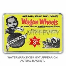 CHOCOLATE 'WAGON WHEELS' ADD : They looked bigger as a Kid- JUMBO FRIDGE MAGNET