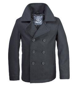 Brandit Pea Coat Uomo Giacca Cappotto in lana cappotto corto Giacca Invernale cabanjacke | eBay