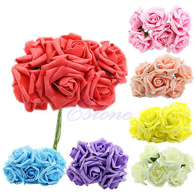 Wedding Rose Flowers Head Latex Real Touch Artificial For Diy Bouquets Bridal