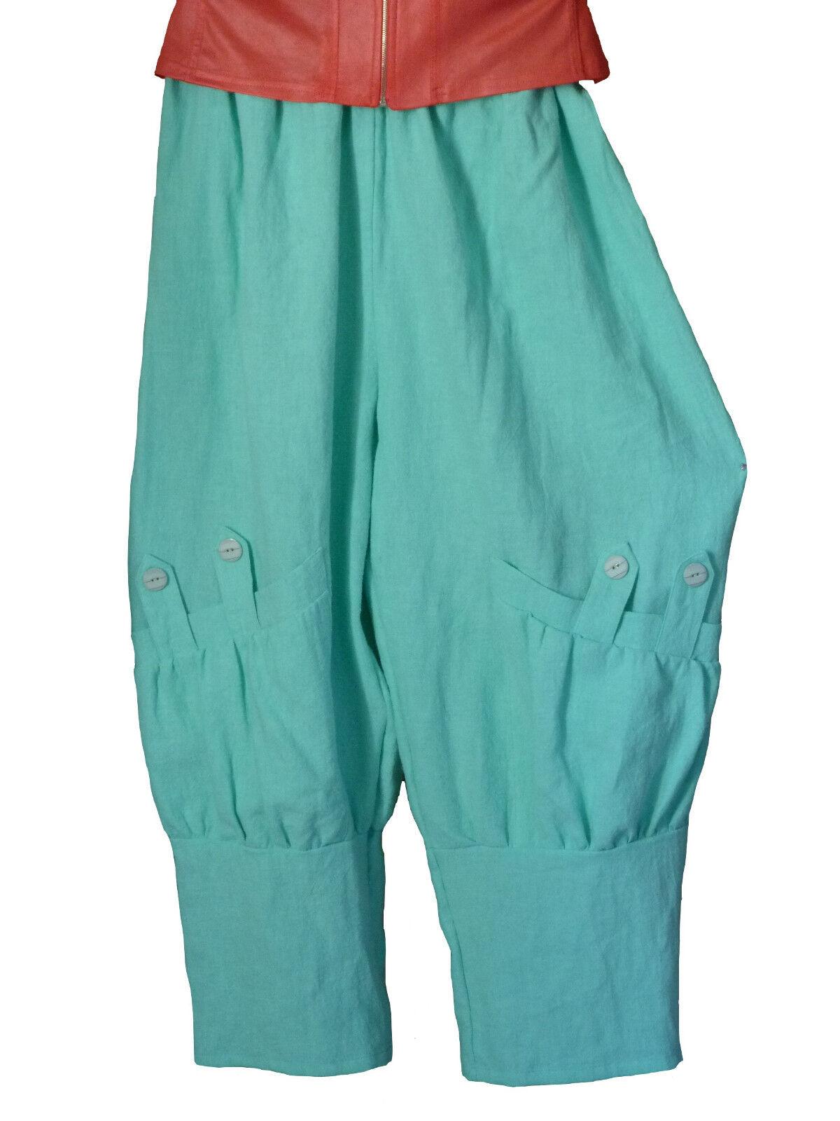 TG. 52 54 54 56 56 58 58-62 PANTALONI LINO pantaloni slittamento Pantaloni MINT lontano overDimensione