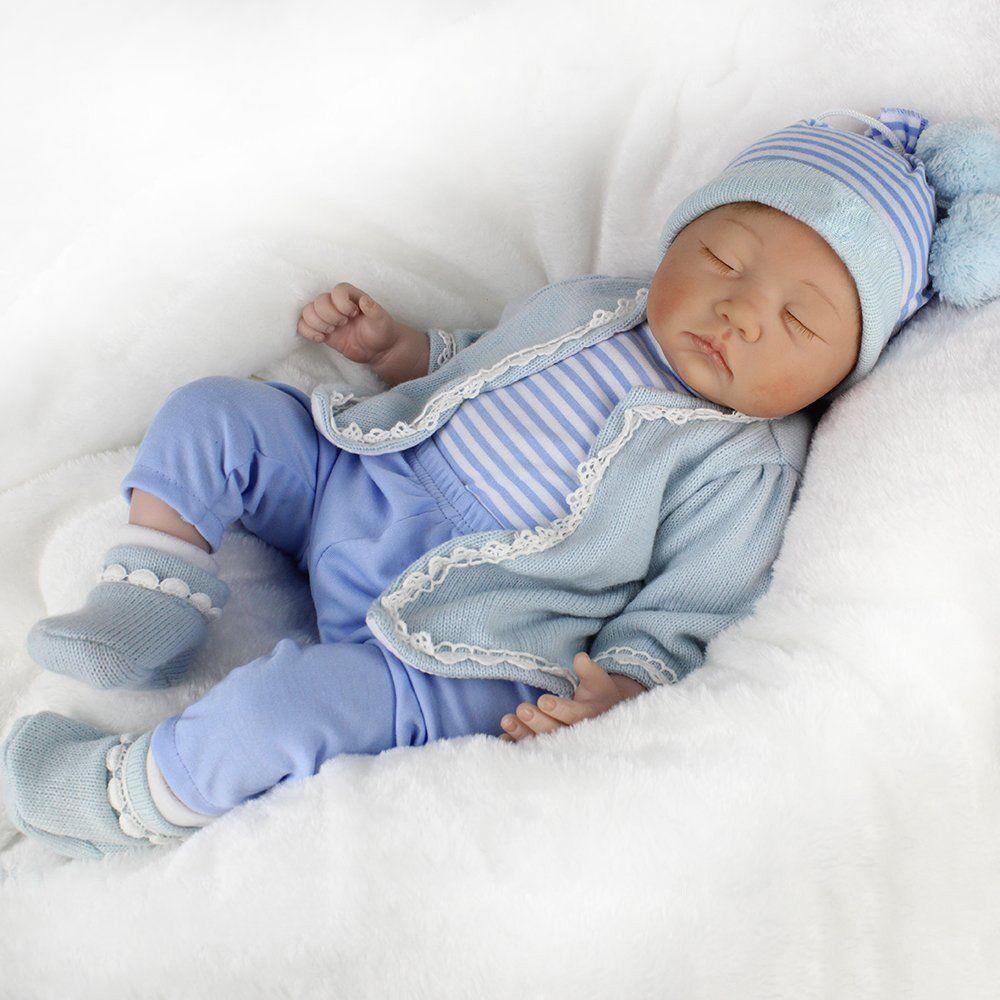 22  55CM SILICONE REBORN DOLL REAL LIFE LIKE LOOKING NEWBORN BABY BOY DOLLS Xmas