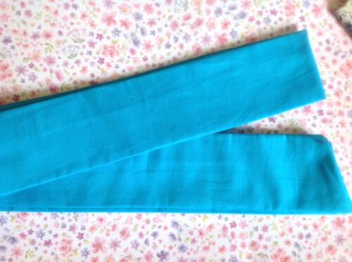 TURQUOISE BLUE PLAIN COTTON BENDY WIRE HAIR WRAP WIRED SCARF HEADBAND 50S RETRO