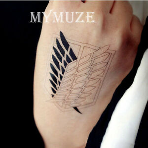 Attack On Titan Scouting Legion Recon Corps Symbol Cosplay Tattoo