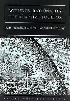1 of 1 - Bounded Rationality: The Adaptive Toolbox (Dahlem Workshop Reports), Good Condit
