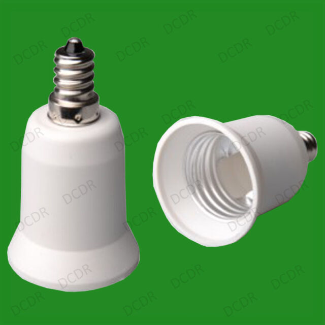 CES E12 Candelabra To Edison Screw E27 ES Light Bulb Adaptor Converter Holder