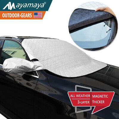 Car Front Windshield Snow Cover /& Sun Shade SUV Protector All Weather Ice Frost