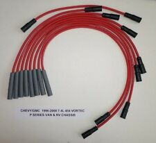 CHEVY/GMC 1996-2000 7.4L 454 P Series Vans & RV Chassis RED 8mm Spark Plug Wires
