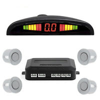 LED Display 4 Sensors Car Parking Rear Reversing Buzzer Alarm Audio SystemSilver