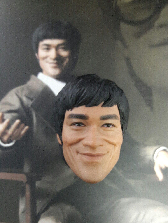 1 6 Hot Toys Bruce Lee MIS11 Head Sculpt US Seller