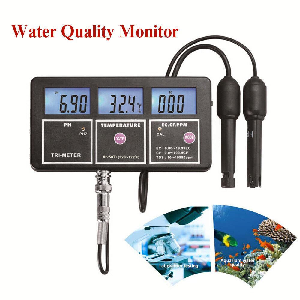 5in1 Calidad del Agua Digital Monitor Medidor Probador EC CF TDS Temp detector portátil