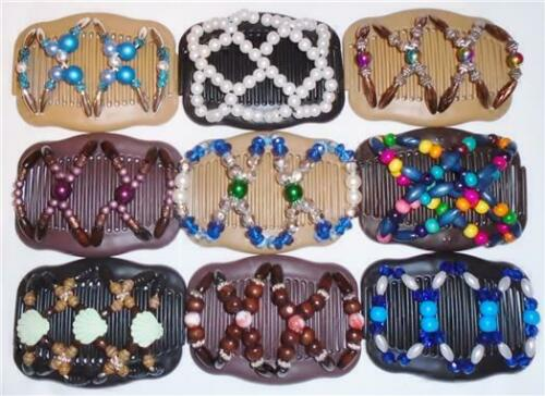 "Angel Wings Hair Clips 4x3.5/"" African Butterfly Style Quality S06 Magic Combs"