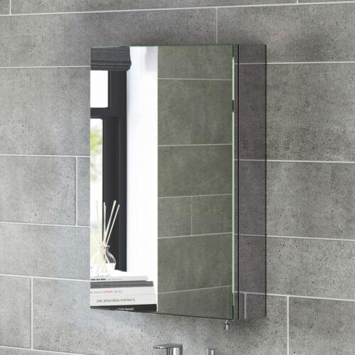 600 x 400mm Stainless Steel Mirror Cabinet | Wall Mount Single Door Storage Unit