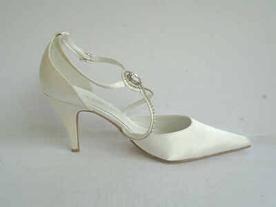 Erfrischung Befangen Verlegen Anne Michelle L2910 Damen Weiß Satin Hochzeit Schuhe Riemen-detail Selbstbewusst Gehemmt 30b Unsicher kett