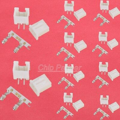 100x XH2.54-2P Pin Connector Kits 2.54mm  Header + Terminal + Bending socket New