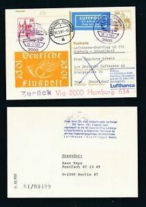 Vente Professionnelle 10020) Berlin Zudruck Ga P 108 Dr10pf Lp > Lh Ff Hambourg-düsseldorf 30.3.81-afficher Le Titre D'origine
