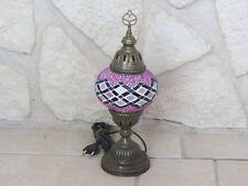 Tischlampe Orientlampe Mosaiklampe Tiffany Dekoleuchte Glas Messing 1001