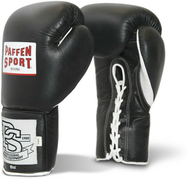 Pro Classic Profi Boxhandschuhe von Paffen Sport.Acht uur.10Oz. Kickboxen, rot op.