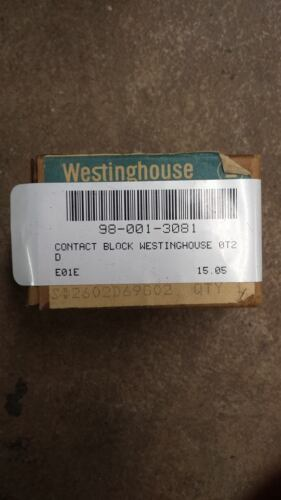 WESTINGHOUSE 0T2D OIL-TITE CONTACT BLOCK   W298