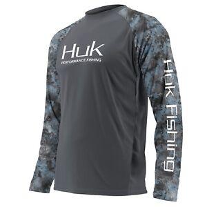 s Gletscher Camo Herren Shirt T 3x Belüftetes Auswahl 010 S Performance Grau Größe Huk L Xw1fnOFqq