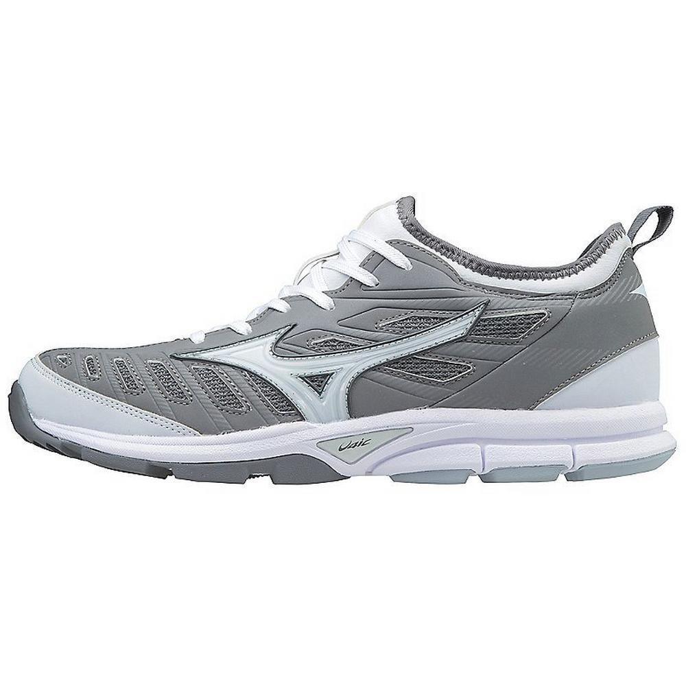 Mizuno PLAYER'S TRAINER 2 Mens Baseball TURF shoes Grey - White
