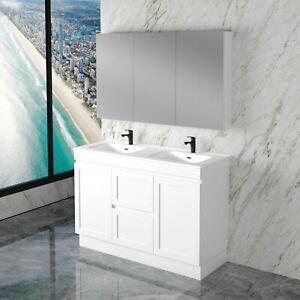 Double Vanity W Ceramic Top, Miami Vanity Bathroom