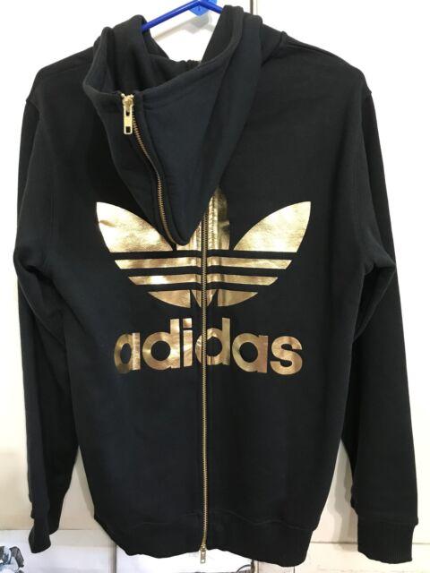 Obyo Hoodie Trefoil Jeremy Originals Scott Zip Sweatshirt Black Gold Adidas Back 7bfvgY6y