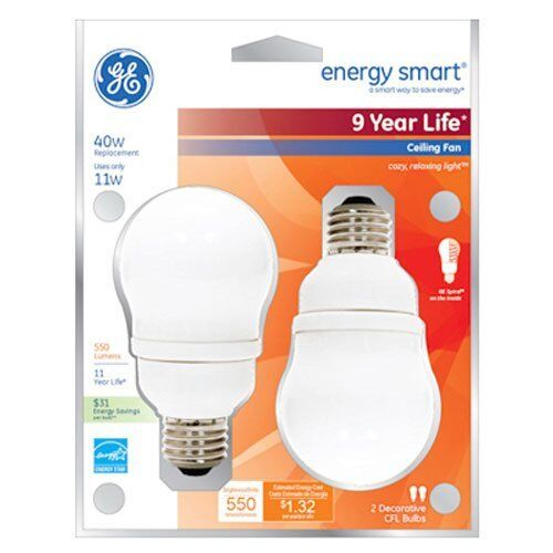 Ge lighting 49687 a17 energy smart ceiling fan cfl bulb 11 watt ebay mozeypictures Image collections