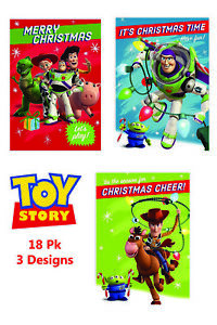 Disney Christmas Cards.Details About Disney Toy Story 18 Pack Of Childrens Christmas Cards 3 Designs